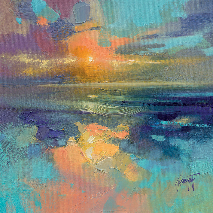 Scott Naismith (Cerulean Cyan Study) Canvas Prints