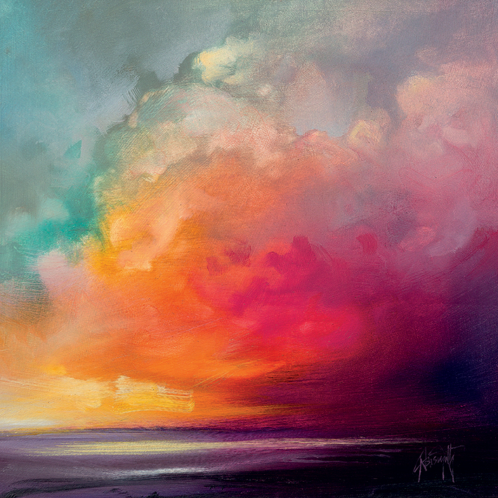 Scott Naismith (Sunset Cumulus Study 1) Canvas Print