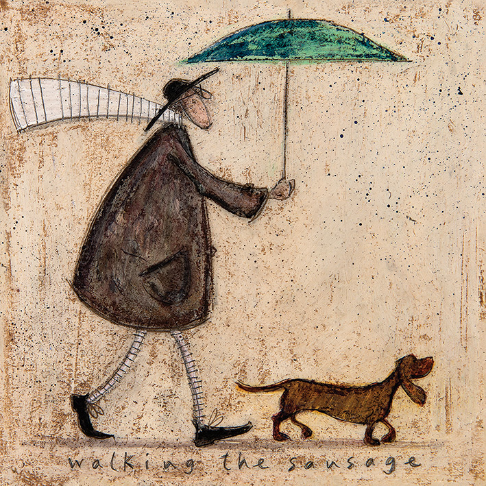 Sam Toft (Walking The Sausage) Canvas Print