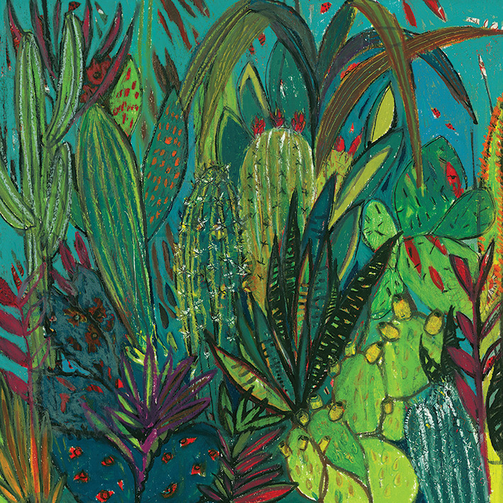 Shyama Ruffell (Cactus Jungle) Canvas Prints