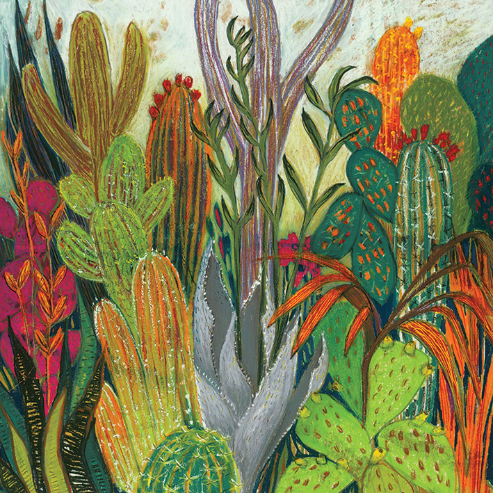 Shyama Ruffell (The Cactus) Canvas Prints