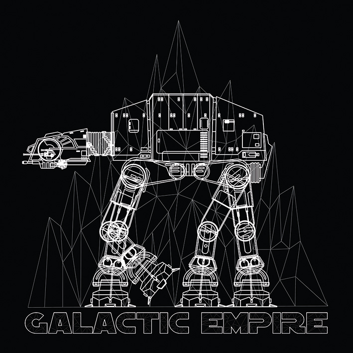 Star Wars (AT-AT Frame) Canvas Print