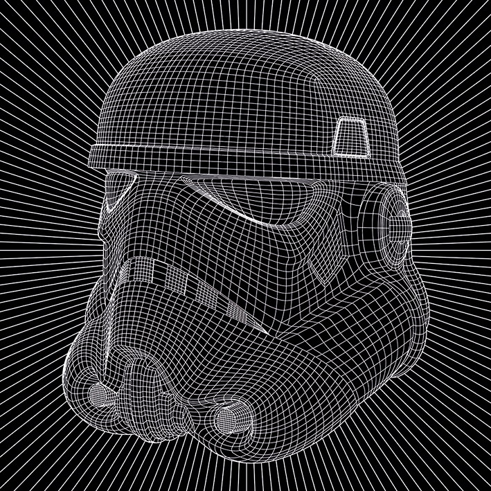 Star Wars (Stormtrooper Wire) Canvas Prints