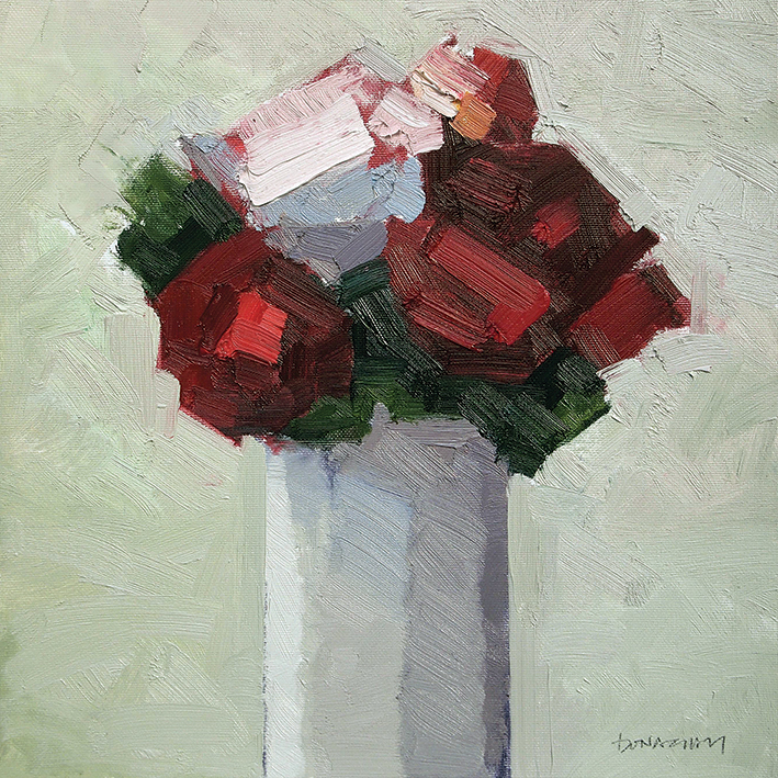 Paul Donaghy (Red Bouquet) Canvas Prints