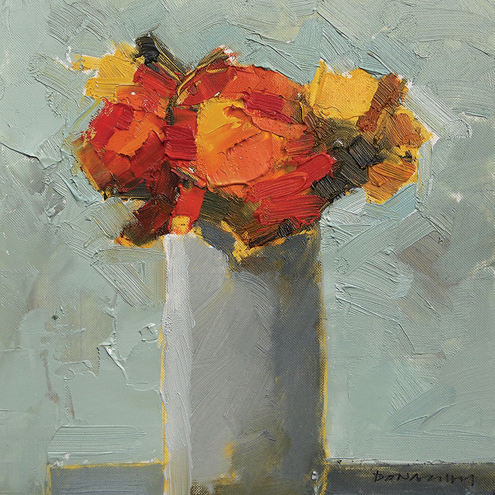 Paul Donaghy (Marigolds) Canvas Print