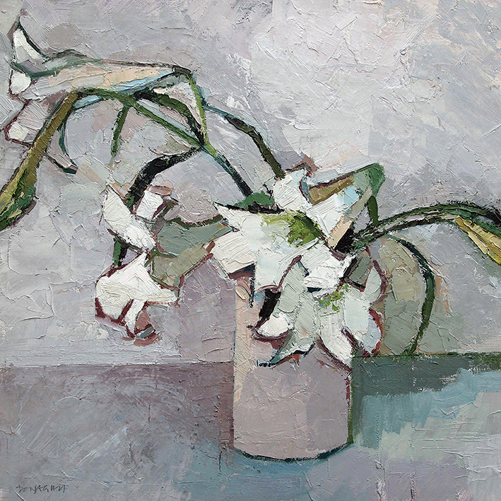 Paul Donaghy (White Lillies) Canvas Print