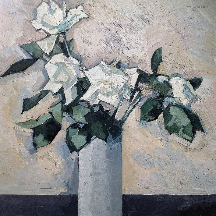 Paul Donaghy (White Roses) Canvas Prints