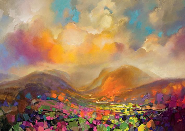 Scott Naismith (Nevis Range Colour) Canvas Prints