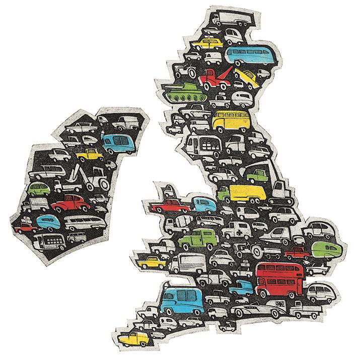 Barry Goodman (Motorway Map) Canvas Prints