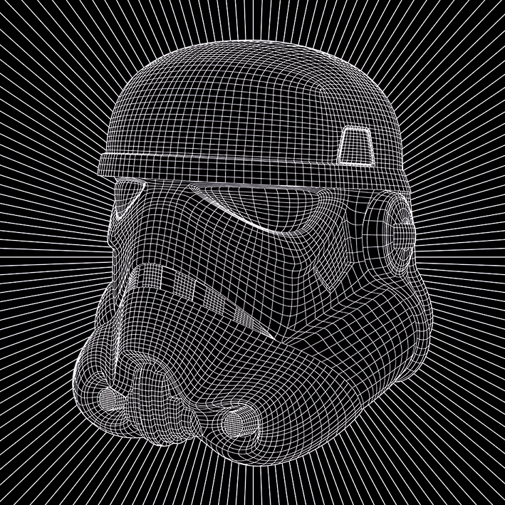Star Wars (Stormtrooper Wire) Canvas Print