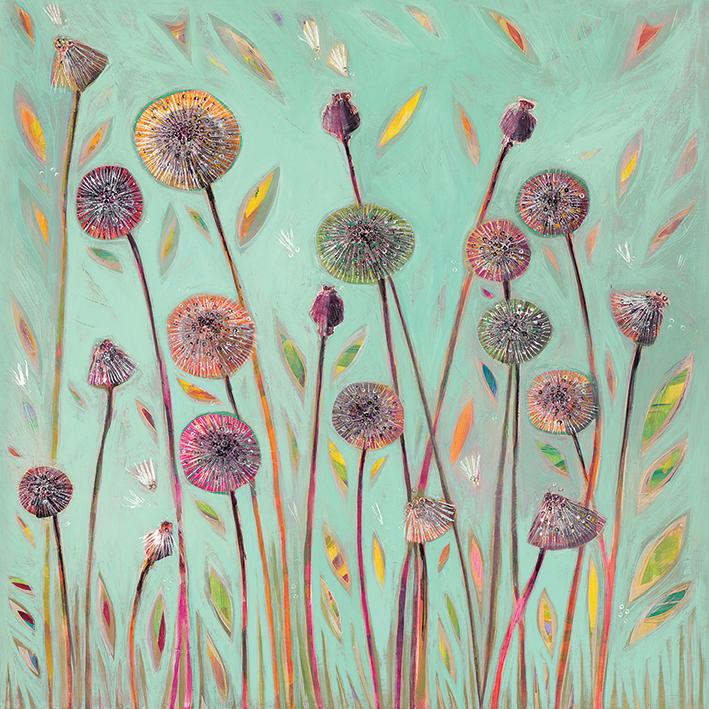 Shyama Ruffell (Dandelion Blue) Canvas Print