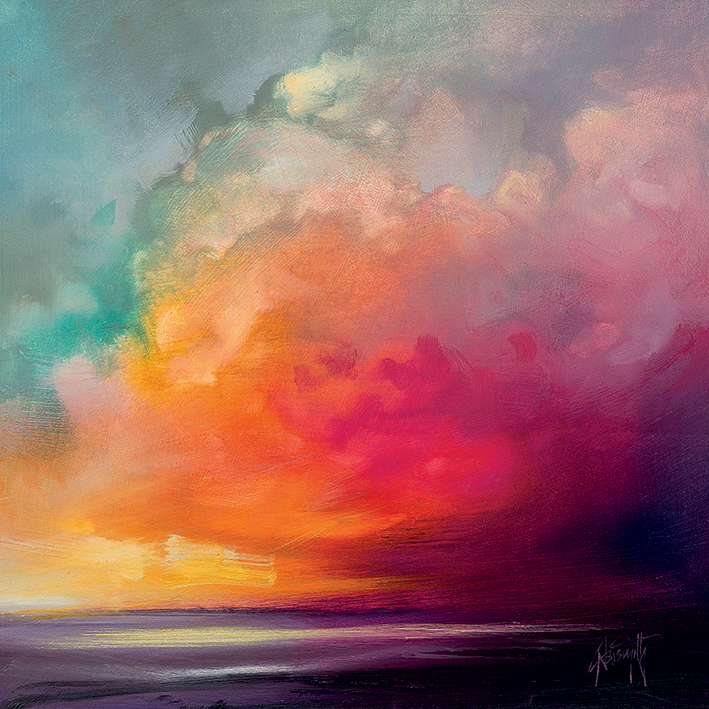 Scott Naismith (Sunset Cumulus Study 1) Canvas Prints