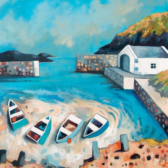 Derek Melville (Ballintoy Harbour) Canvas Prints