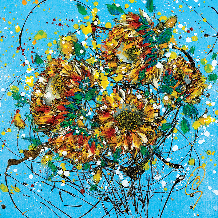Clare Sykes (Sun Seeds Breeze 2) Canvas Prints