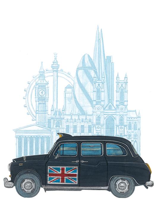 Barry Goodman (London Taxi) Canvas Print