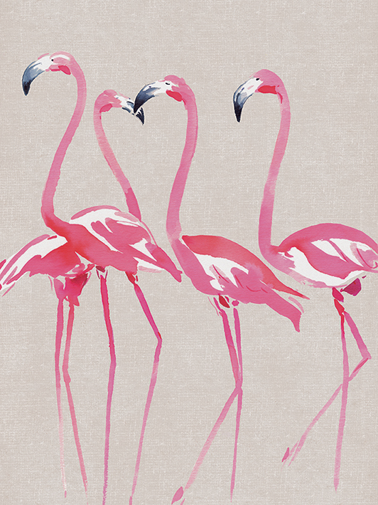 Summer Thornton (Elegant Flamingos) Canvas Print