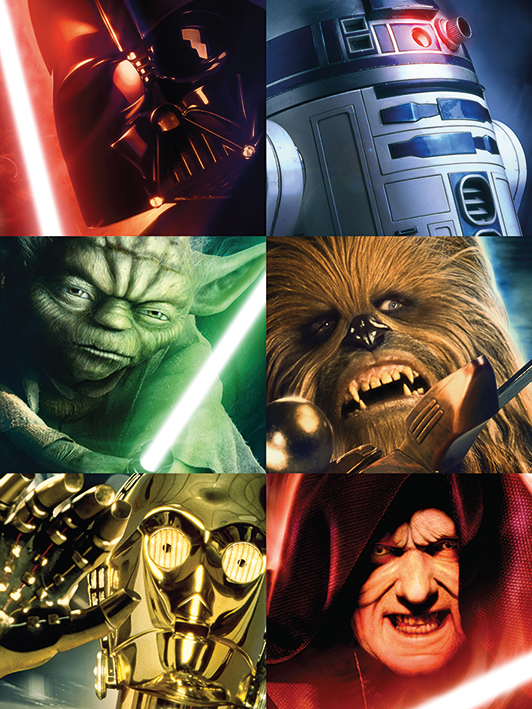 Star Wars (Character Squares) Canvas Print