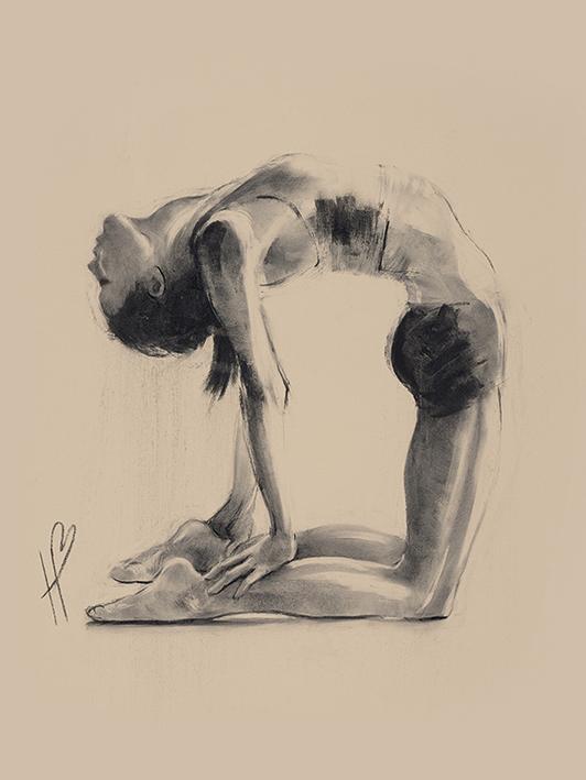 Hazel Bowman (Camel Pose) Canvas Print