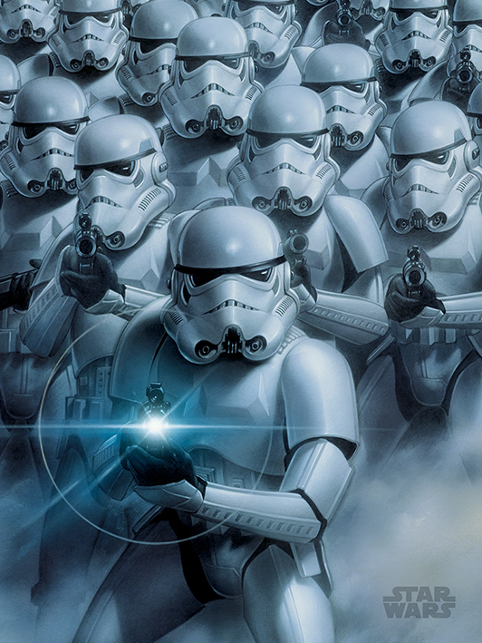 Star Wars (Stormtroopers) Canvas Print
