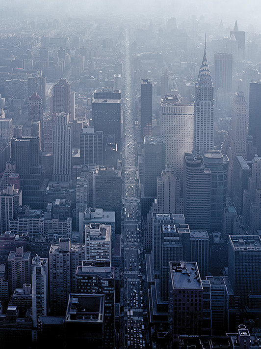 Pete Seaward (NY Aerial Straight Road) Canva