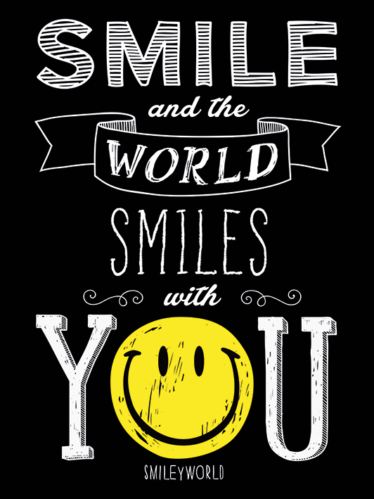 Smiley (Smile and the World Smiles With You) Canvas Print