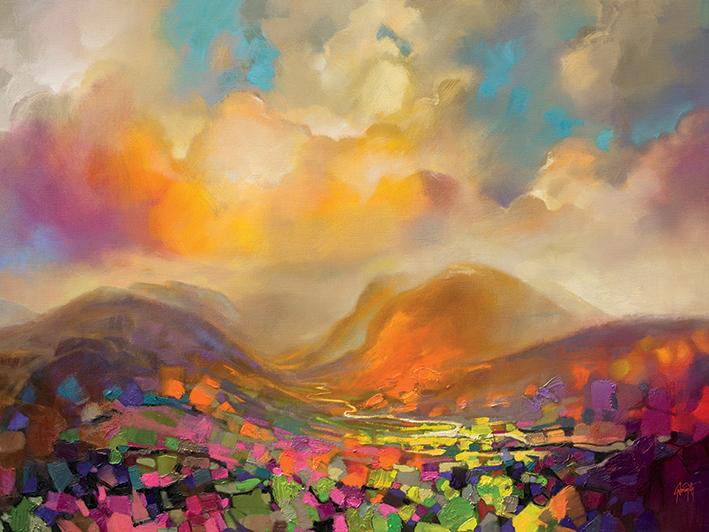 Scott Naismith (Nevis Range Colour) Canvas Print
