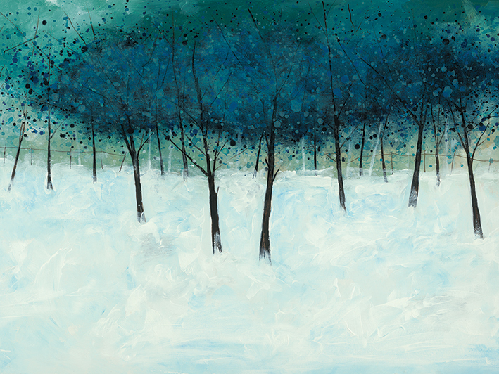 Stuart Roy (Blue Trees on White) Canvas Print