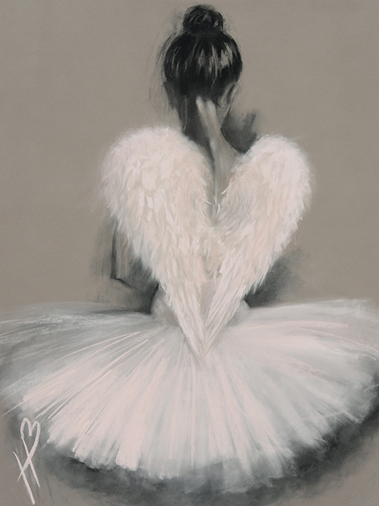 Hazel Bowman (Angel Wings) Canvas Prints