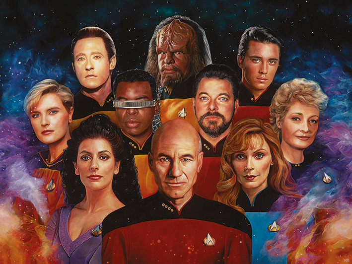Star Trek (The Next Generation) 50th Anniversary Canvas Print