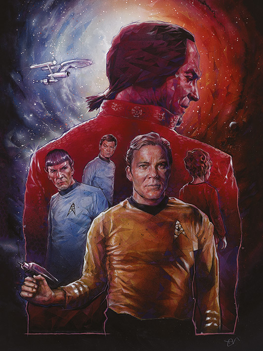 Star Trek (Space Seed) 50th Anniversary Canvas Print