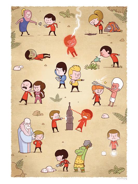 Star Trek (Redshirts) 50th Anniversary Canvas Prints