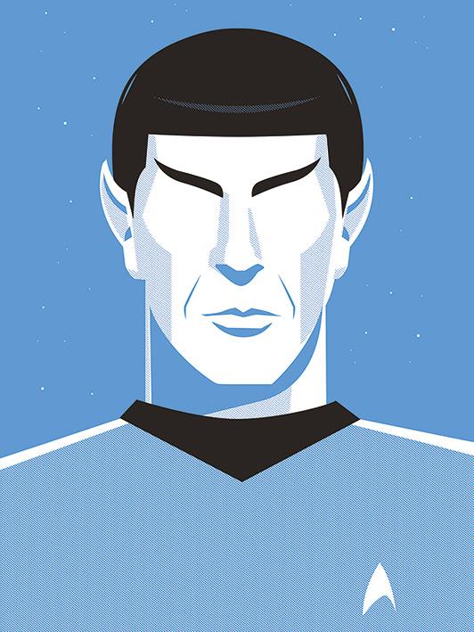 Star Trek (Pop Spock) - 50th Anniversary Canvas Prints