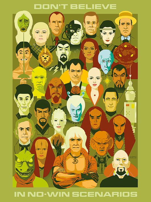 Star Trek (No Win Scenarios) 50th Anniversary Canvas Print