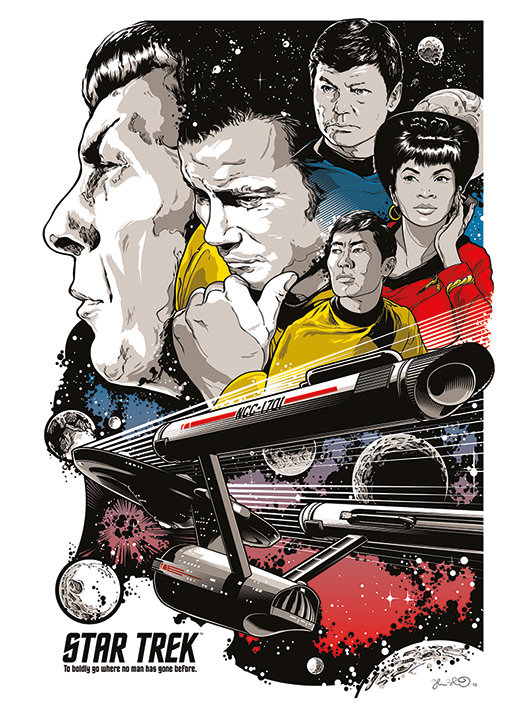 Star Trek (Boldly Go) - 50th Anniversary Canvas Prints