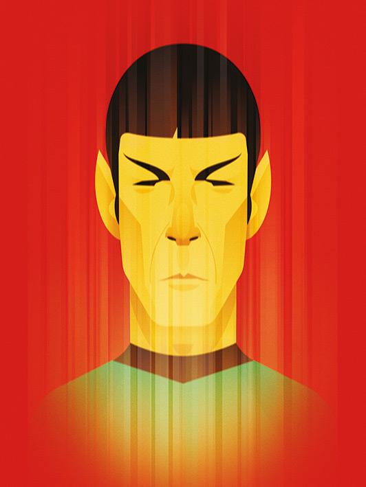 Star Trek (Beaming Spock) 50th Anniversary Canvas Print