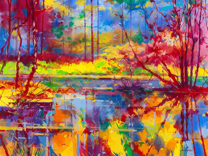 Doug Eaton (Reflections at Meadowcliff) Canvas Print