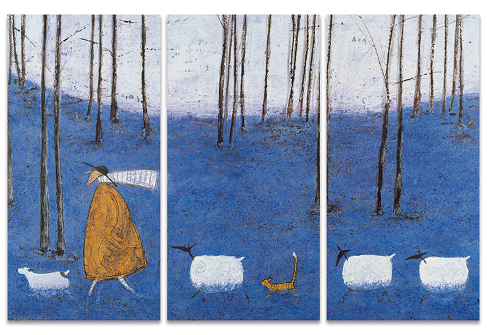 Sam Toft (Tiptoe Through The Bluebells) Canvas Triptych