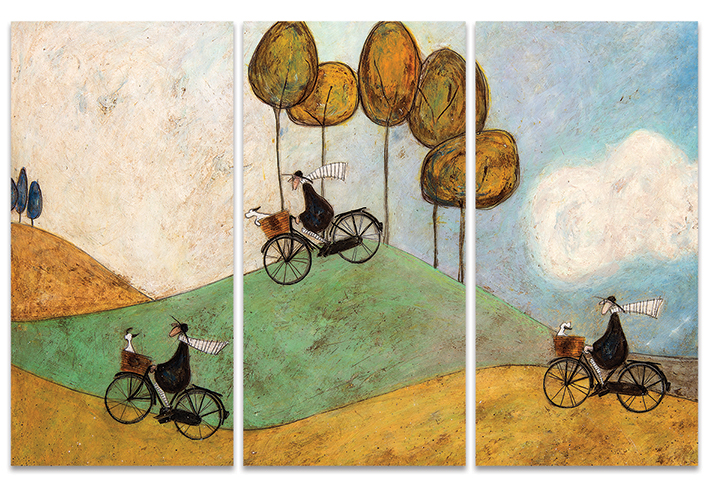 Sam Toft (Just One More Hill) Canvas Triptych