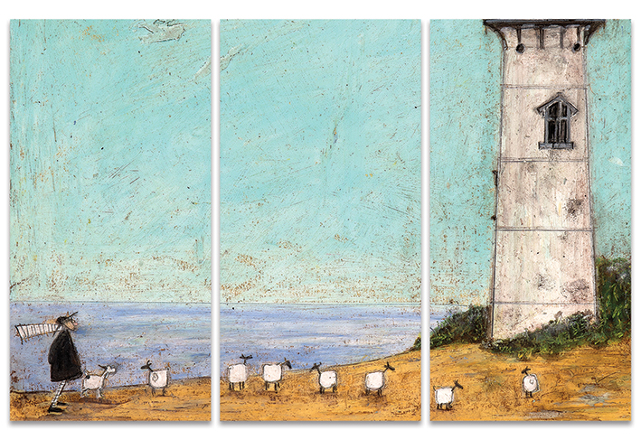 Sam Toft (Seven Sisters And A Lighthouse) Canvas Triptych