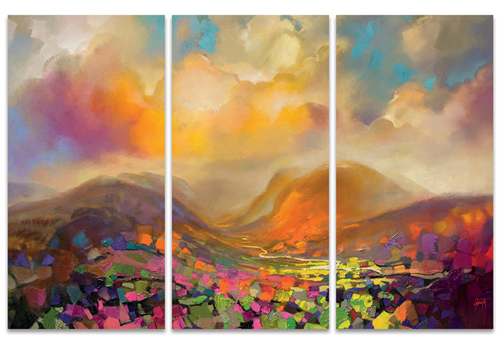 Scott Naismith (Nevis Range Colour) Canvas Triptych