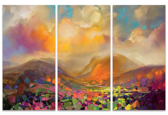 Scott Naismith (Nevis Range Colour) Canvas Triptych