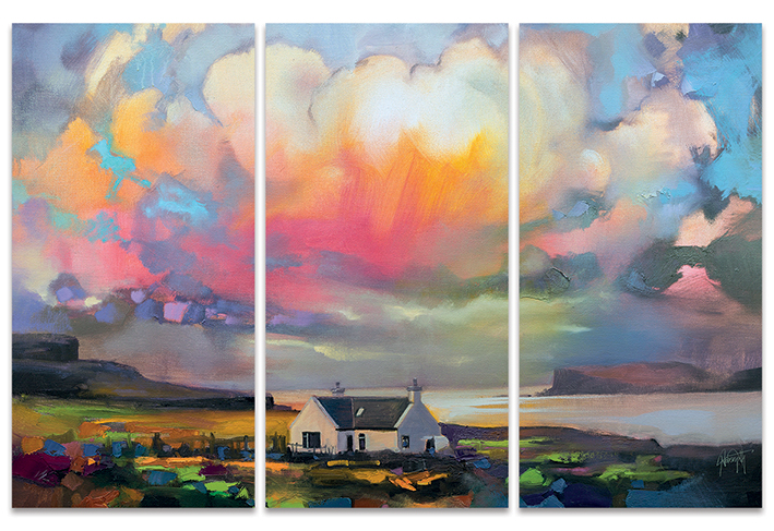 Scott Naismith (Duirinish Skye) Canvas Triptych