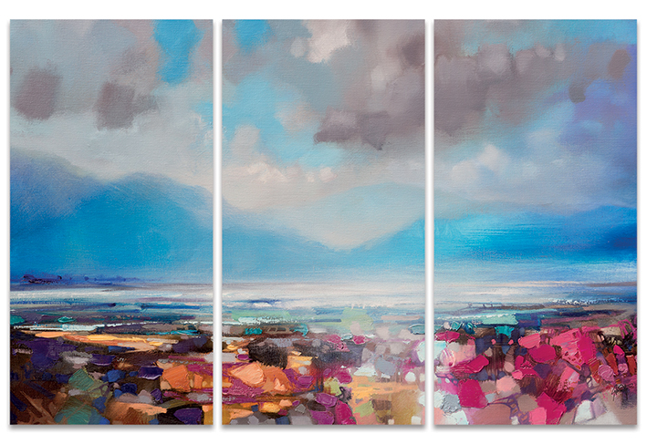 Scott Naismith (Lomond Proximity) Canvas Triptych