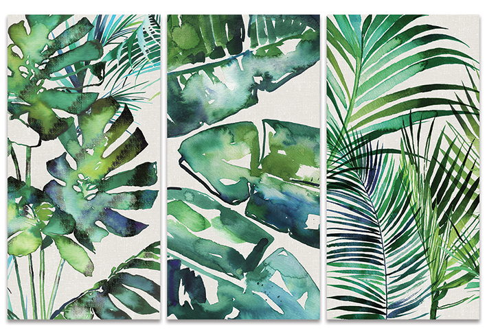 Summer Thornton (Botanical Series) Canvas Triptych