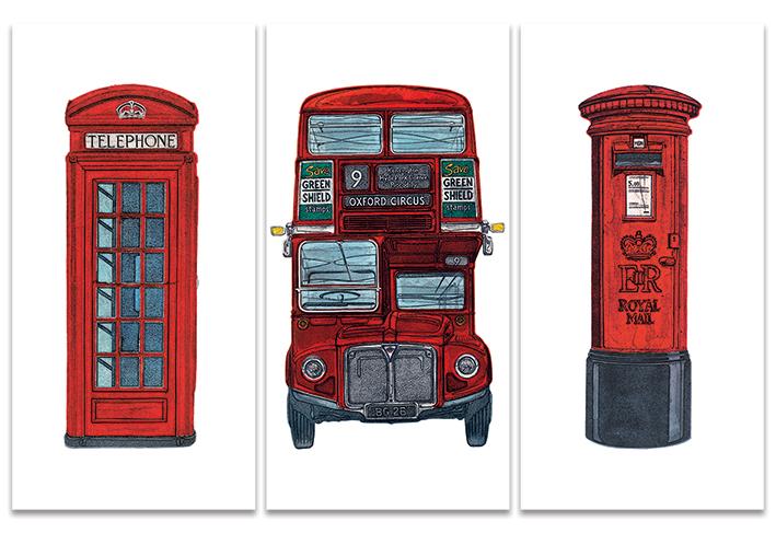 Barry Goodman (London Series) Canvas Triptych